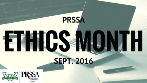 WSU PRSSA Ethics Month Banner